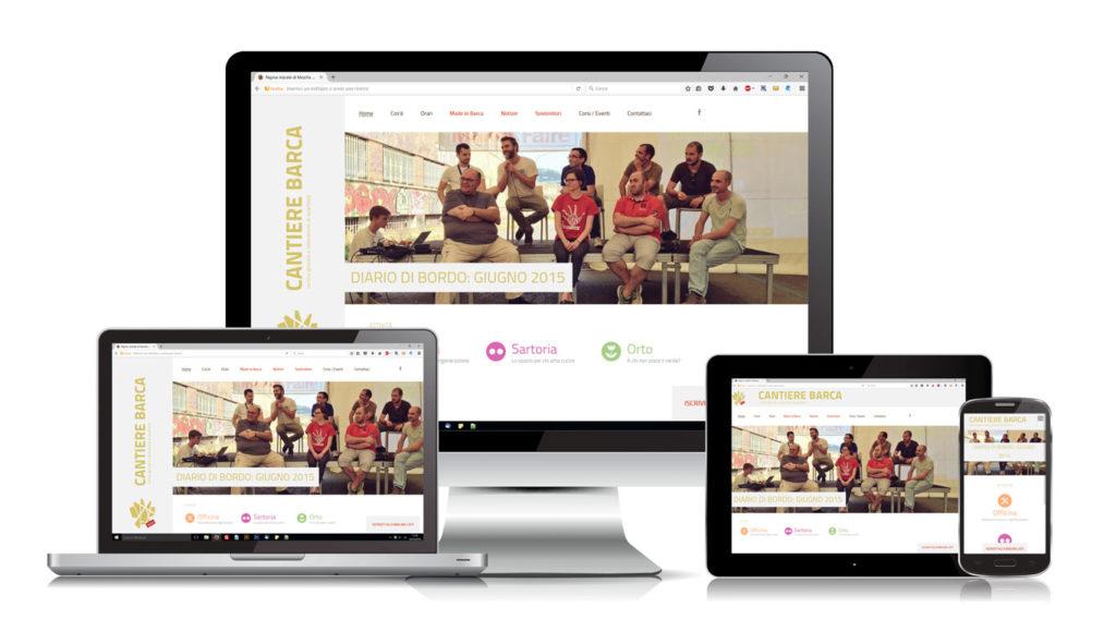 Sito Web Associazione Cantiere Barca - Responsive Design