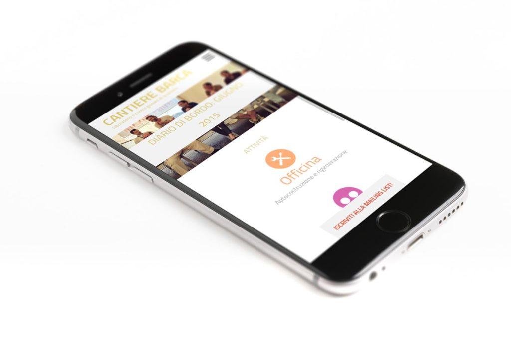 Sito Web Associazione Cantiere Barca - Responsive Design - Mobile