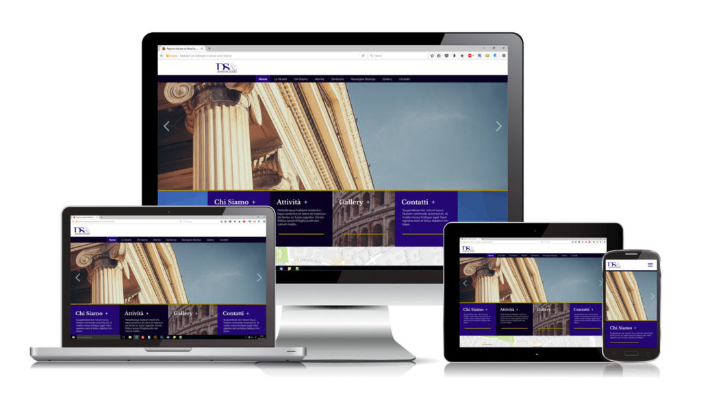 DS e Associati Studio Legale - Responsive Web Design - Device Set