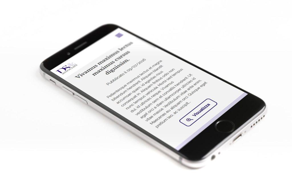 DS e Associati Studio Legale - Responsive Web Design - Rassegna Stampa, Smartphone