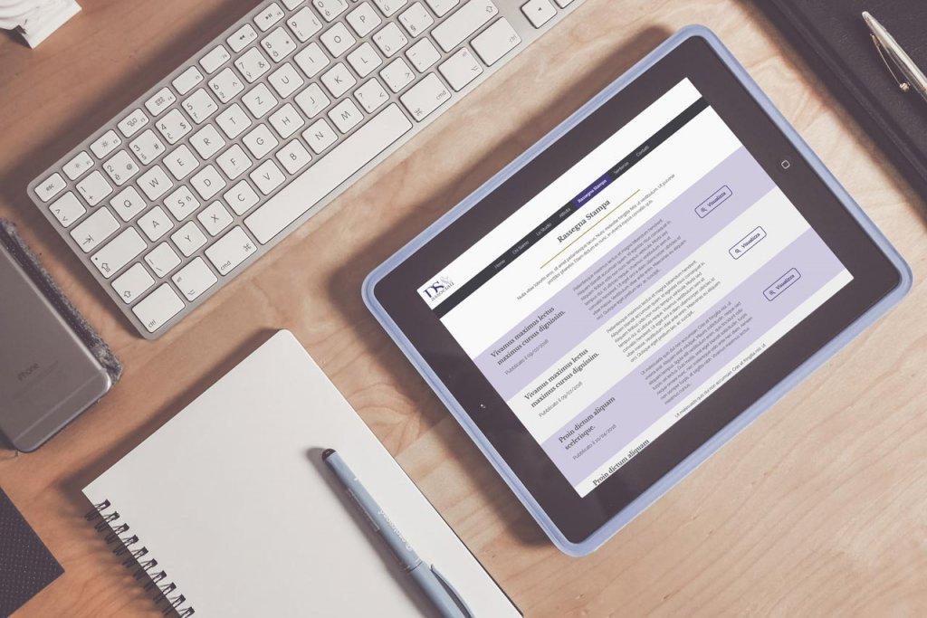 DS e Associati Studio Legale - Responsive Web Design - Rassegna Stampa, Tablet