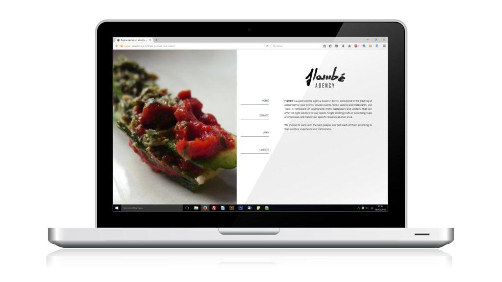 Realizzazione Sito Web - Catering - Notebook
