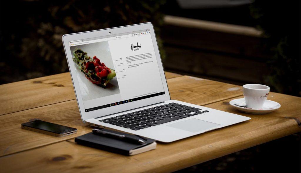 Realizzazione Sito Web - Catering - Responsive Design - Notebook