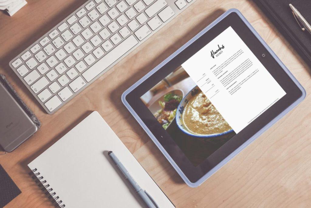 Realizzazione Sito Web - Catering - Responsive Design - Tablet