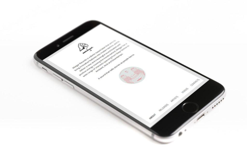 Realizzazione Sito Web - Music Label - Responsive Design - Smartphone
