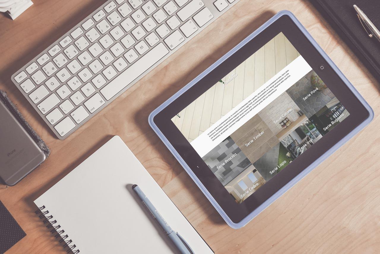 RB Ceramiche - Sito Web Aziendale - Responsive Design - Tablet