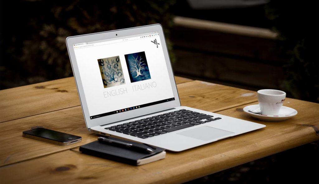 Veronica Ferrari - Sito Web per Artisti - Responsive Design - Notebook, Homepage