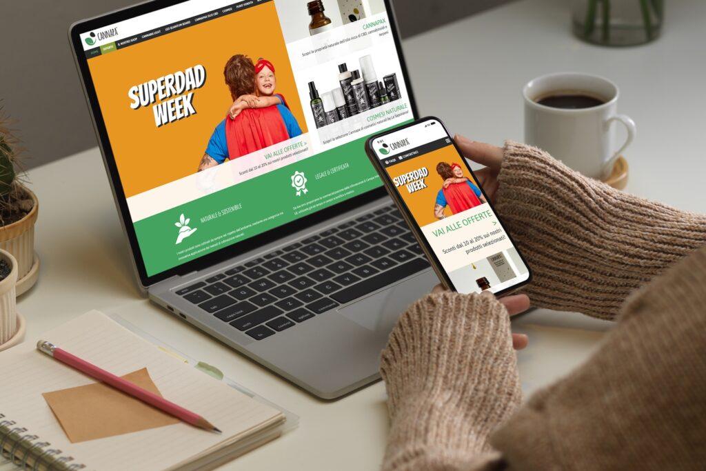 Cannapa - Sito.Express - Realizzazione siti web per e-commerce cannabis light - Roma