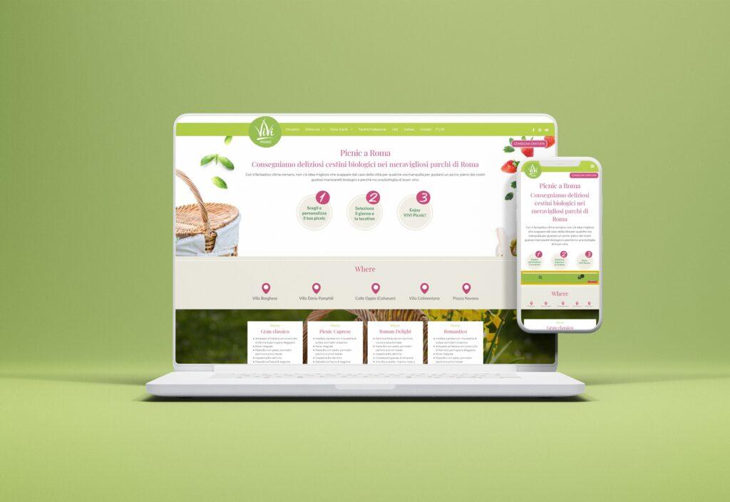 Vivipicnic - Sito.Express - Realizzazione siti web per ristorante - Roma