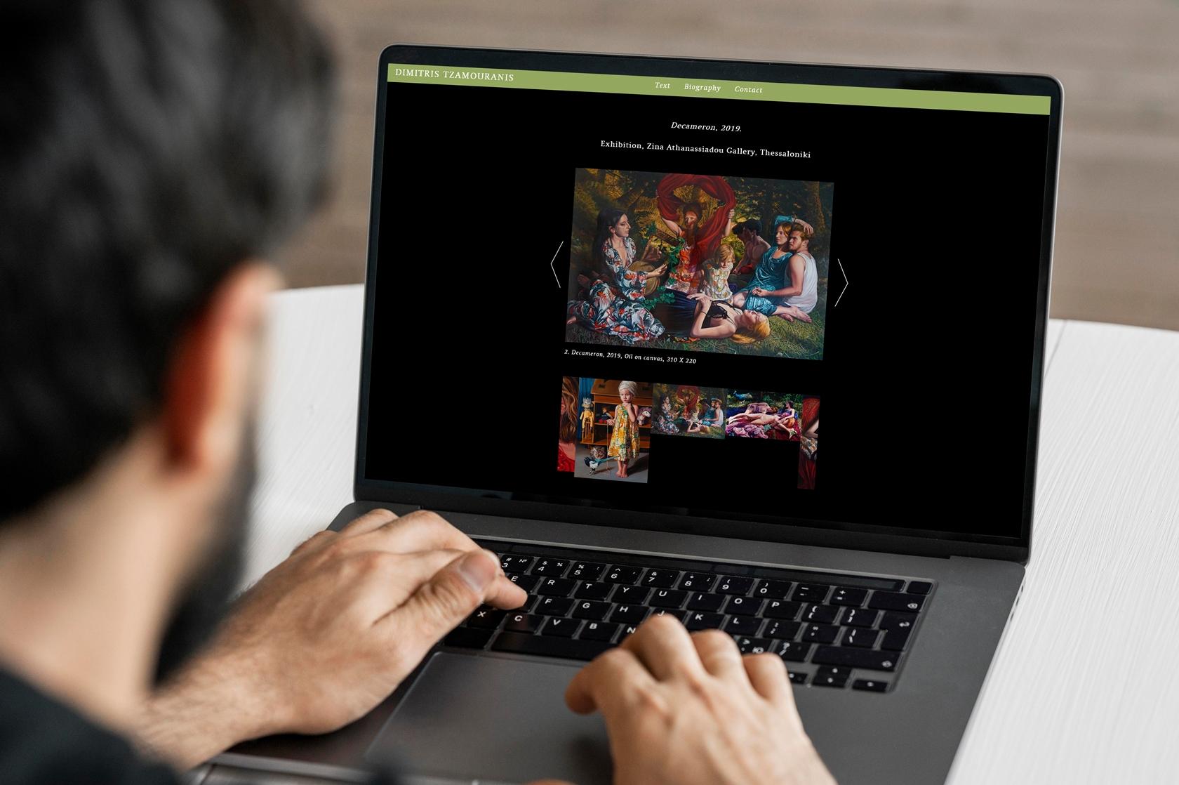 Dimitris tzamouranis - Sito.Express -Realizzazione siti web per artista - Roma