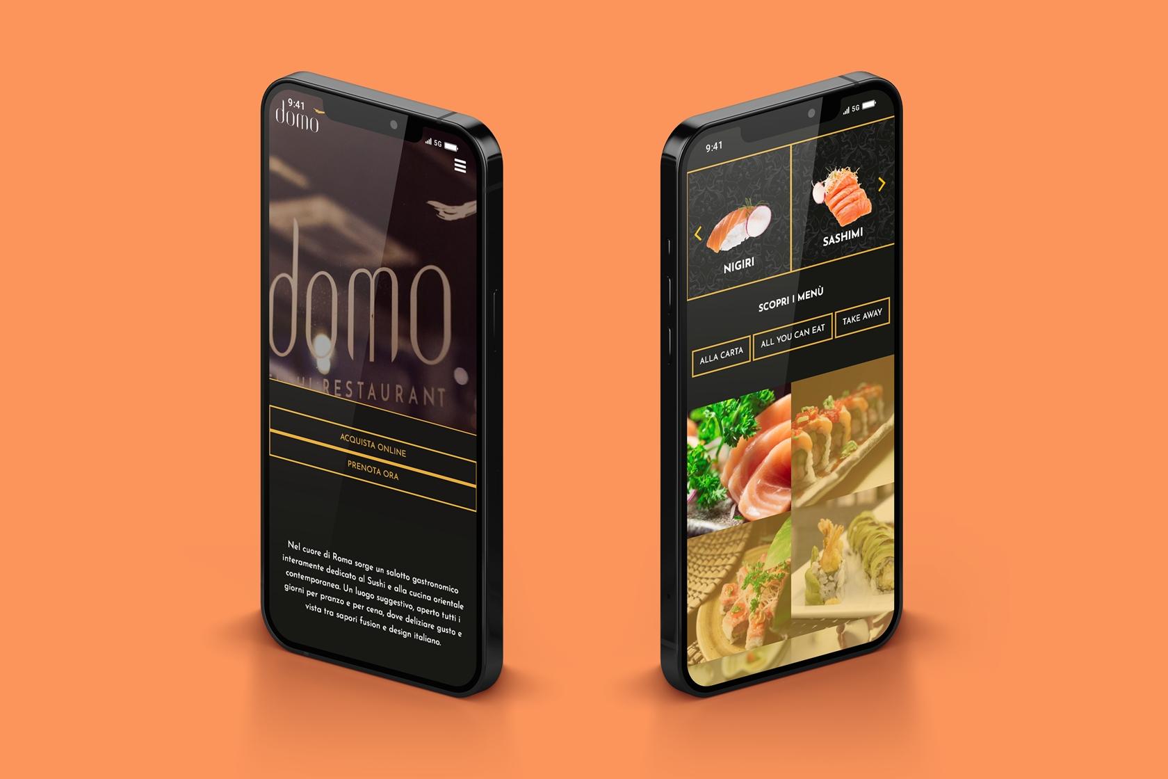 Domosushi - Sito.Express - Realizzazione siti web per ristorante giapponese - Roma