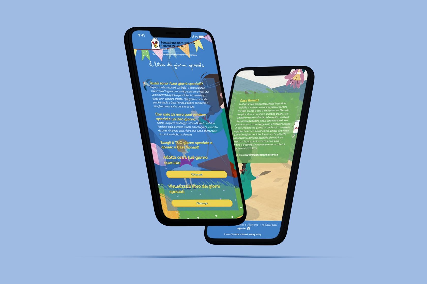 Fondazione per l'infanzia Ronald McDonalds - Sito.Express - Realizzazione siti web per organizzazioni - Roma