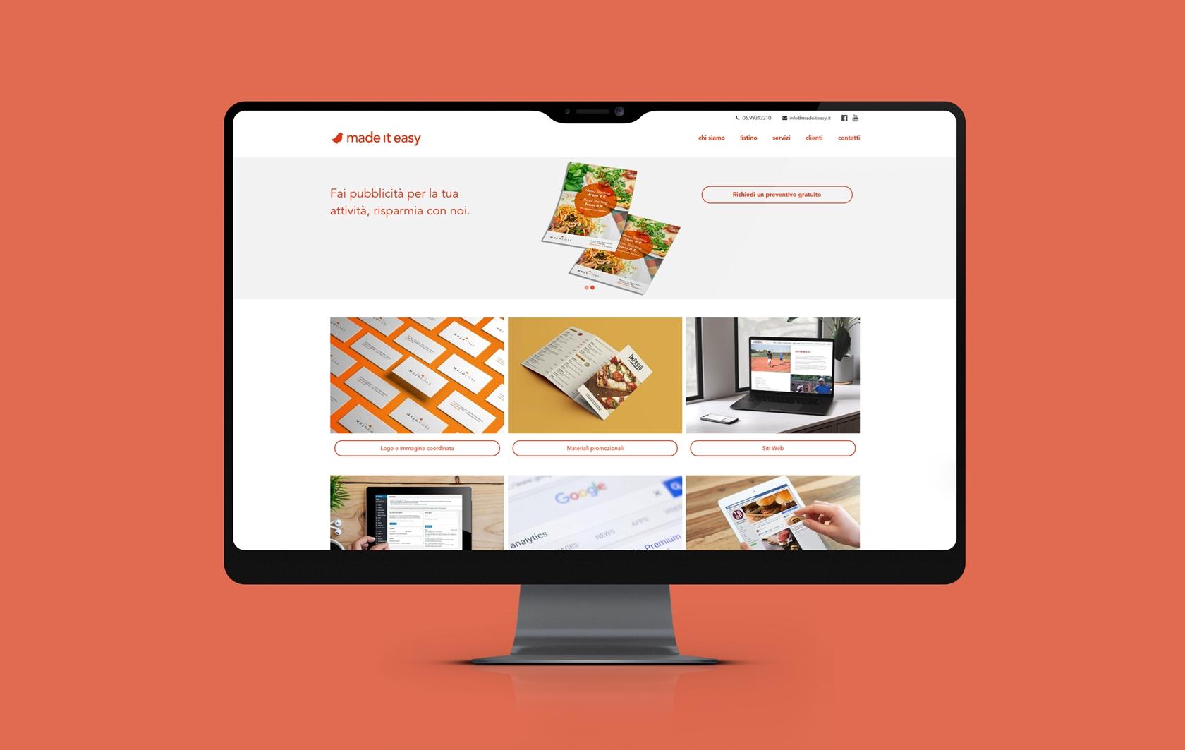 Made it easy - Sito.Express - Realizzazione siti web per agenzia pubblicitaria - Roma