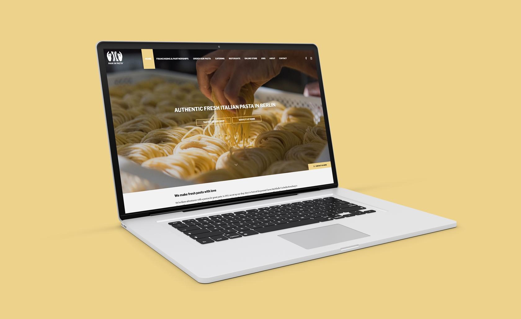 Mani in Pasta - Sito.Express - Realizzazione siti web per azienda produttrice e ristorante - Roma